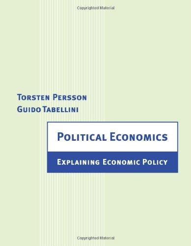 9780262161954: Political Economics: Explaining Economic Policy
