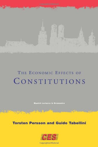 9780262162197: The Economic Effects of Constitutions (Munich Lectures in Economics)