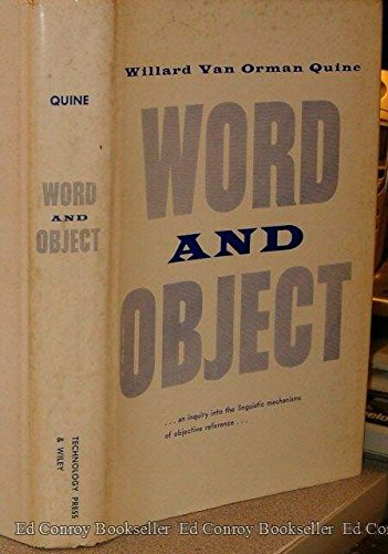 9780262170017: Word and Object