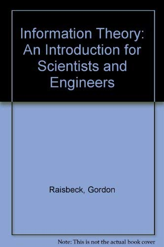 9780262180092: Information Theory: An Introduction for Scientists and Engineers