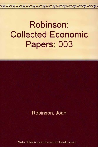 9780262180955: Collected Economic Papers of Joan Robinson - Vol. 3