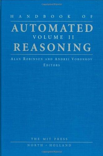 9780262182225: Handbook of Automated Reasoning