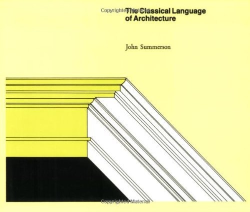 9780262190312: The Classical Language of Architecture by Summerson, John (1966) Paperback