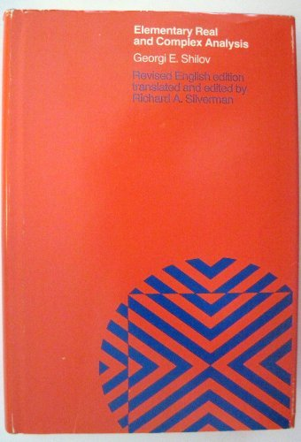 9780262191098: Mathematical Analysis - Vol 1: Elementary Real And Complex Analysis