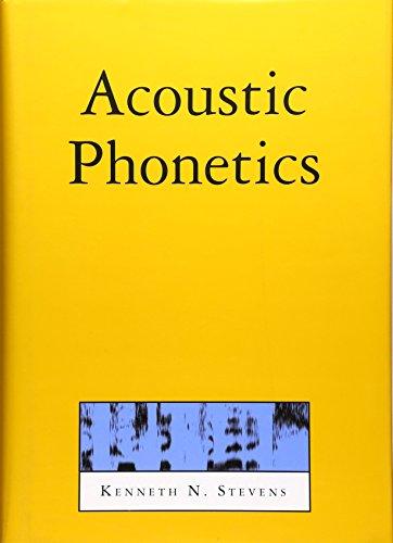 9780262194044: Acoustic Phonetics (Current Studies in Linguistics)
