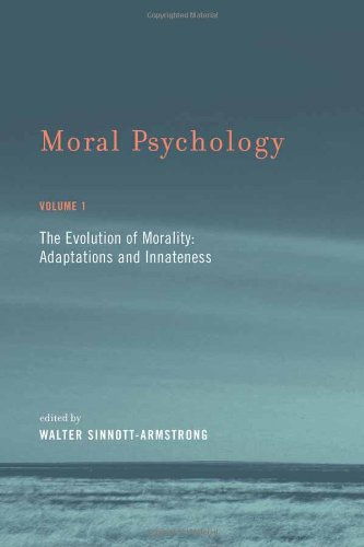 9780262195614: Moral Psychology: The Evolution of Morality: Adaptations and Innateness: 1