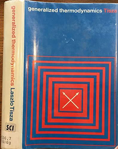 9780262200103: Generalized Thermodynamics