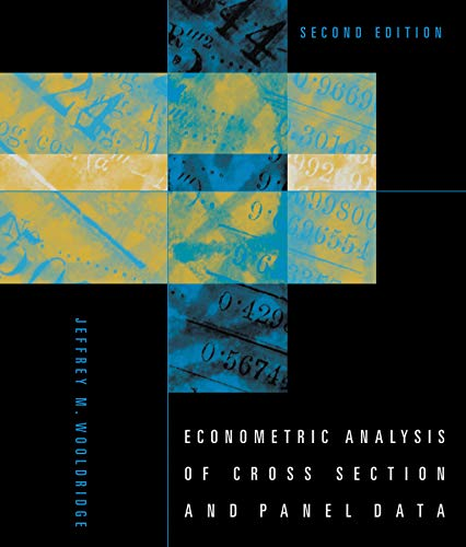 9780262232586: Econometric Analysis of Cross Section and Panel Data (MIT Press)
