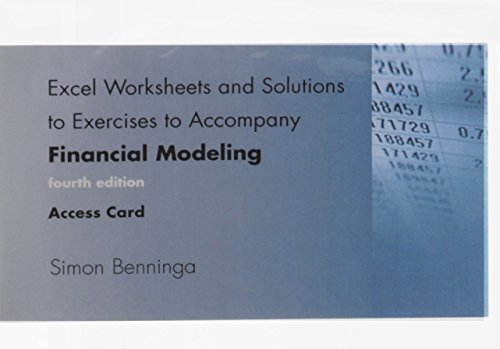 9780262322607: Excel Worksheets and Solutions to Exercises to Accompany Financial Modeling, fourth edition, Access Code (MIT Press)