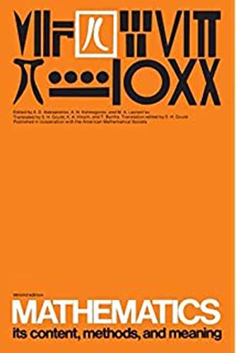 Mathematics, Vol. 3: Its Content, Methods, and: Aleksandrov, A D