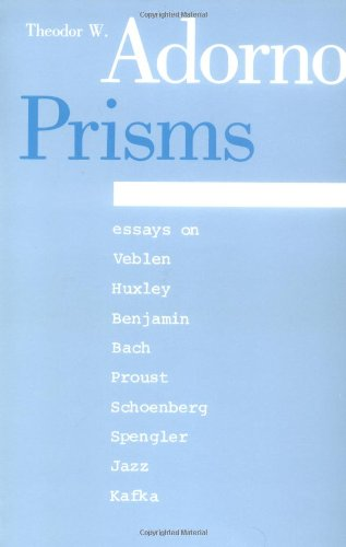 9780262510257: Prisms (Studies in Contemporary German Social Thought)