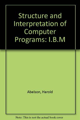 9780262510448: Structure and Interpretation of Computer Programs