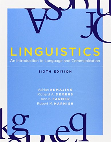 9780262513708: Linguistics: An Introduction to Language and Communication, 6th edition (MIT Press)