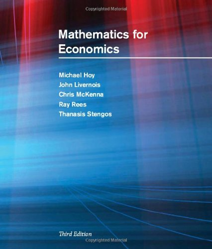 9780262516228: Mathematics for Economics: 'with Student Solutions Manual + Instructor's Solutions Manual
