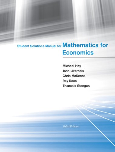 9780262517942: Student Solutions Manual for Mathematics for Economics (MIT Press)