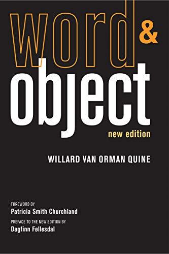 Word and Object: Quine, Willard Van Orman