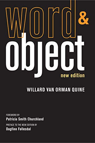 9780262518314: Word and Object