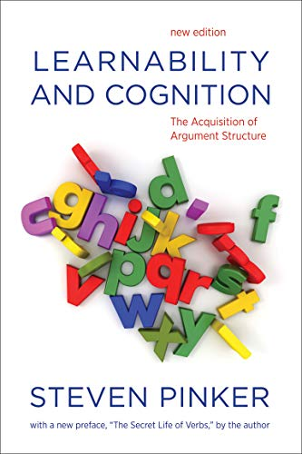 9780262518406: Learnability and Cognition: The Acquisition of Argument Structure (Learning, Development, and Conceptual Change)
