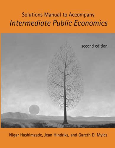9780262518482: Solutions Manual to accompany Intermediate Public Economics