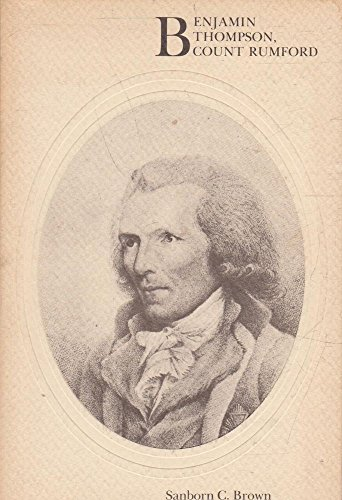 9780262520690: Brown: Benjamin Thompson Count Rumford (Paper)