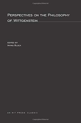 9780262520874: Perspectives on the Philosophy of Wittgenstein (MIT Press)