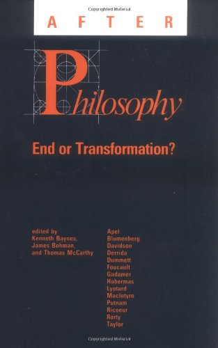 9780262521130: After Philosophy: End or Transformation?