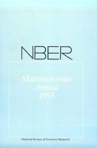 NBER Macroeconomics Annual 1993 (Paperback)