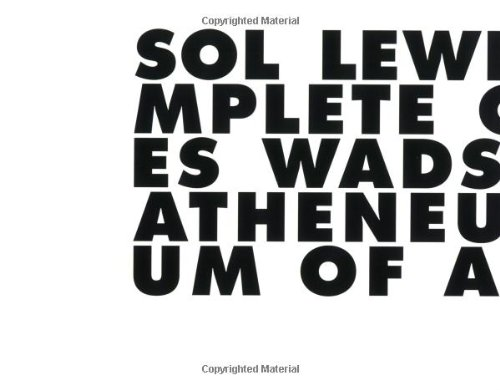 Sol LeWitt: Incomplete Open Cubes: Nicholas Baume, Jonathan