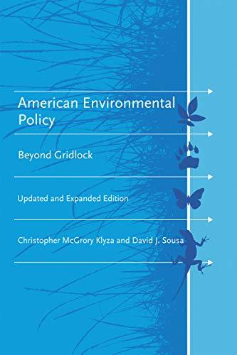 9780262525046: American Environmental Policy: Beyond Gridlock (American and Comparative Environmental Policy)