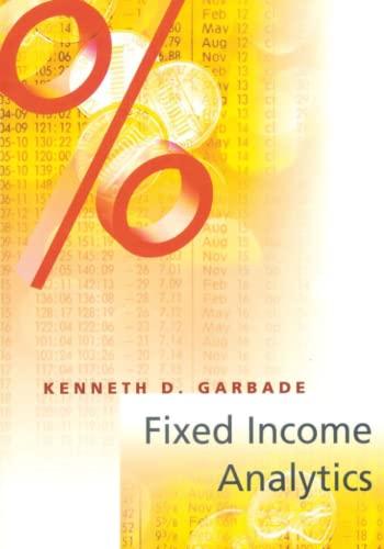 9780262525572: Fixed Income Analytics