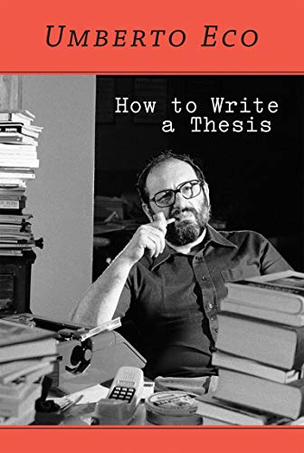9780262527132: How to Write a Thesis