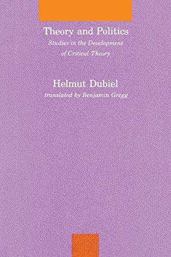 9780262529457: Theory and Politics: Studies in the Development of Critical Theory (Studies in Contemporary German Social Thought)