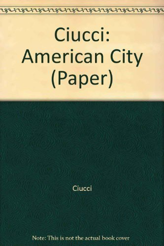 9780262530446: The American City: From the Civil War to the New Deal