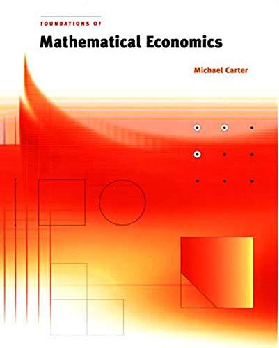 9780262531924: Foundations of Mathematical Economics