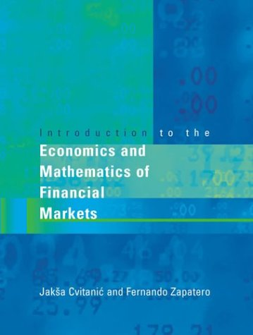 9780262532655: Introduction to the Economics and Mathematics of Financial Markets