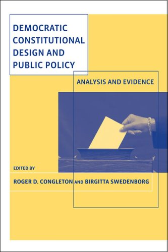 Democratic constitutional design and public policy : analysis and evidence.: Congleton, Roger D. & ...