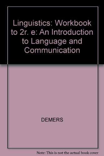 9780262540452: A Linguistics Workbook