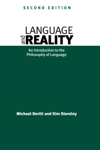 9780262540995: Language and Reality - 2nd Edition: An Introduction to the Philosophy of Language