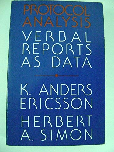 9780262550123: Protocol Analysis: Verbal Reports as Data (Bradford Books)