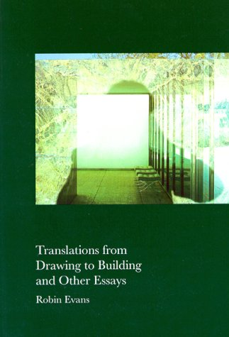 9780262550277: Translations from Drawing to Building