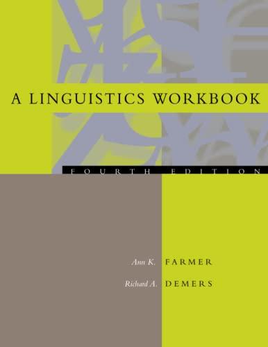9780262561433: A Linguistics Workbook, 4th Edition