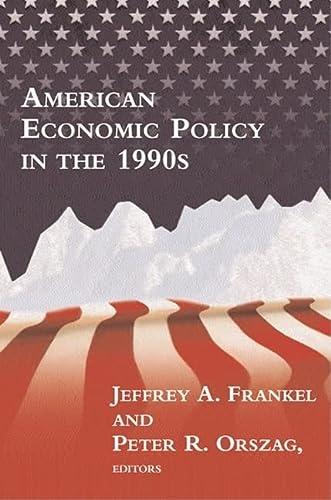 9780262561518: American Economic Policy in the 1990s (MIT Press)