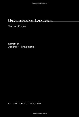 9780262570084: Universals of Language
