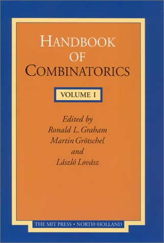 9780262571708: Handbook of Combinatorics, Volume 1