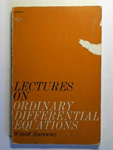 9780262580014: Lectures on Ordinary Differential Equations