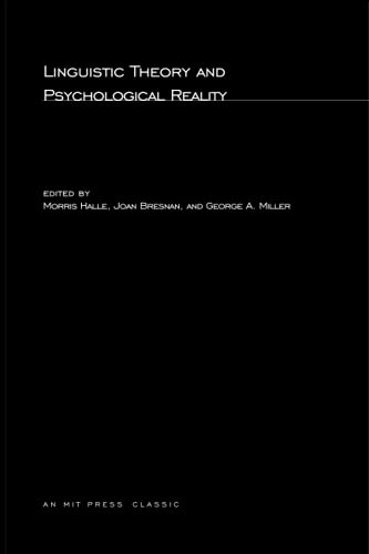 9780262580434: Linguistic Theory and Psychological Reality (MIT Press)