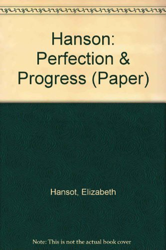 9780262580540: Perfection and Progress: Two Modes of Utopian Thought