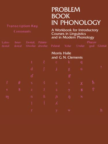 9780262580595: Problem Book in Phonology: A Workbook for Courses in Introductory Linguistics and Modern Phonology