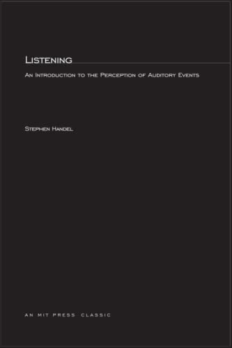 9780262581271: Listening: An Introduction to the Perception of Auditory Events