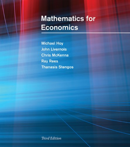 9780262582070: Mathematics for Economics - 2nd Edition